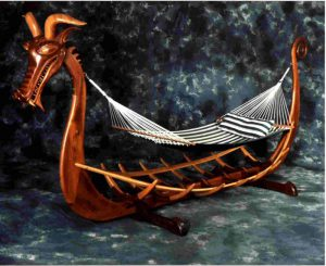 Viking Ship Hammock Stand