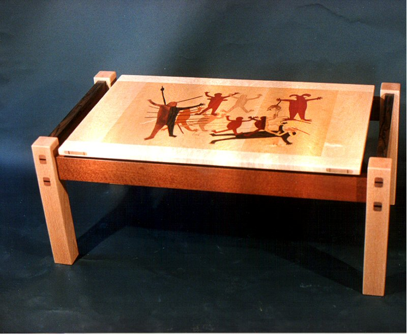 Coffee Table with Cave Paintings