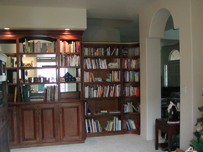 Bookcases For Mediterranean Condo