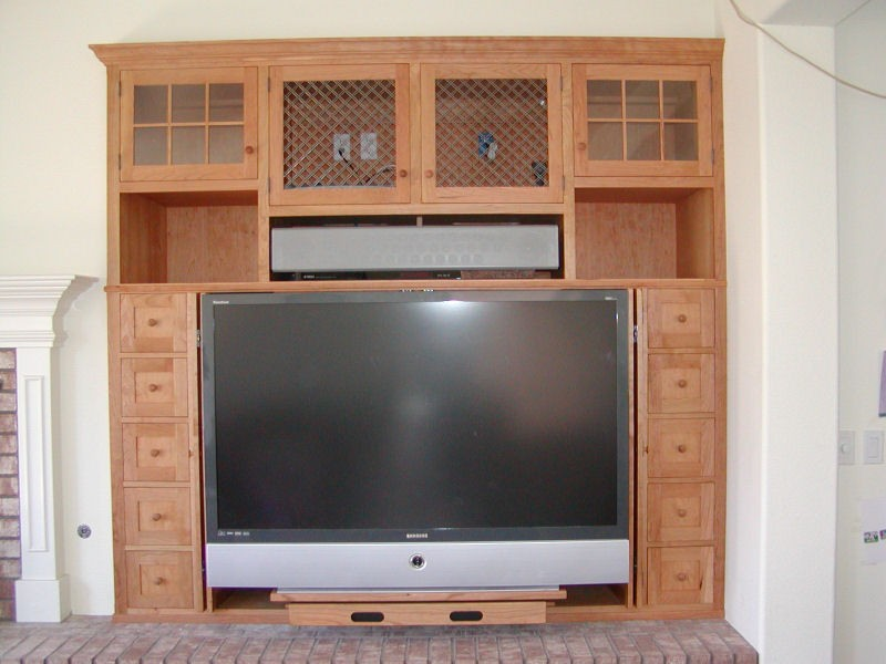 Shaker Entertainment Center - Open