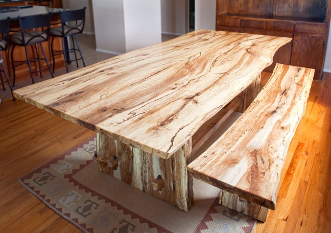 Natural Edge Table/Bench
